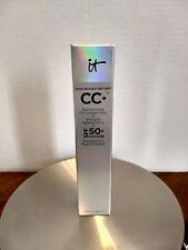 IT Cosmetics CC+ COLOR CORRECTING FULL COVERAGE CREAM + SERUM SPF50 - TAN - NEW