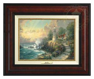 Thomas Kinkade Light of Peace 9 x 12 Canvas Classic (Burl Frame)