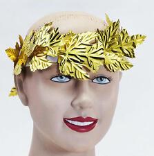 Gold Leaf Roman Emperor Laurel Toga Part Julius Caesar Headband Fancy Dress