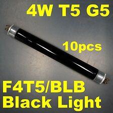 10pcs of 4W T5 Fluorescent Black light Blue Tube G5 Bi-Pin Base F4T5/BLB
