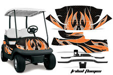 Club Car Precedent Golf Cart Graphic Kit Wrap Parts AMR Racing Decals FLAME ORNG