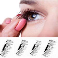 False Eyelashes Natural Eye Lashes Extension Handmade 4 Pcs/2 Pair 3D Magnetic