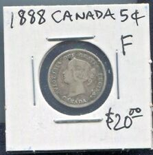 CANADA - BEAUTIFUL HISTORICAL QV SILVER 5 CENTS, 1888
