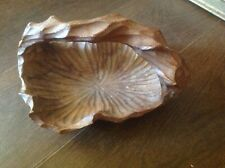 Vintage Hand Carved Decorative Wooden small Salad Bowl Fruit Basket with Handle