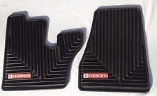 Kenworth OEM Black Rubber Floor Mats w/Red Logo Fits 2005-17 T600 660 W900 C500