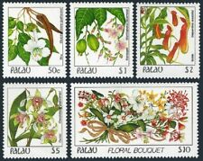 Palau 138-142,high value,MNH. Indigenous Flowers,1987-1988.