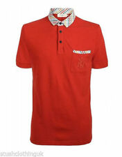 Camicie casual e maglie da uomo a manica corta aderente rosso