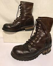 carolina women size 6 Leather brown boots made in usa