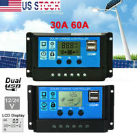 30-100A MPPT Solar Panel Regulator Charge Controller Auto Focus Tracking 12V/24V