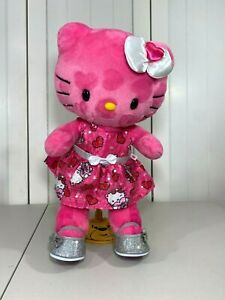 💜 Build A Bear Hello Kitty Pink Hearts Plush w/ NEW Dress and Silver Shoes 💜