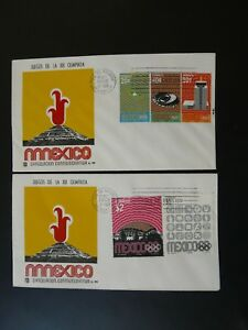 olympic games Mexico 1968 x2 FDC Mexico
