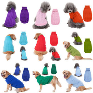 Pet Dog Costume Coat Apparel Puppy Cat Knitwear Warm Jumper Knit Sweater Clothes