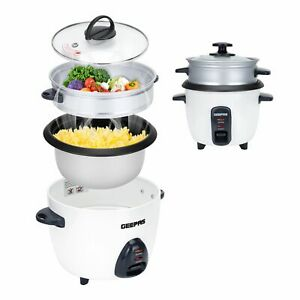 Geepas Rice Cooker Steamer 3 in 1 Cooking Pot Non Stick Electric Keep Warm