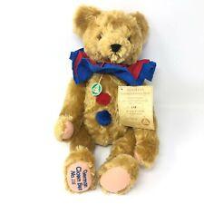"""Hermann German Clown Bear 17"""" Mohair Jointed Teddy Growler Limited Edition"""