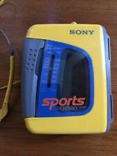 Vtg Sony Sports Walkman Wm-Fs191 Am/Fm Radio Cassette Player w/Headphones Works!