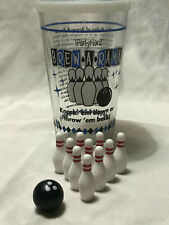 I PARTY HARD BREW-A-RAMA BOWLING DRINKING GAME W/ MINI BALLS& PINS AND GLASS