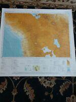 1952 Map of La Paz, Bolivia, Peru, Chile Arica Tacna Isla de Titicaca