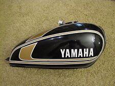 1974-75 Yamaha XS650 TX650 Gas Tank NICE OEM XS TX 650 Fuel Vintage Black Gold