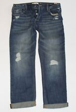 NWT! HOLLISTER by Abercrombie Womens Destroyed Capris Cropped Jeans 3 W26