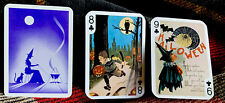 Fortune Telling Gypsy Witch Swap Cards 3 Halloween Trading Cards Witch Boy Owl
