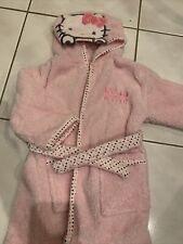 Hello Kitty Kinderbademantel Mädchen mit Kapuze Baby Kind Mantel Kuschelig!