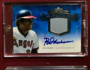 ROD CAREW 2005 UD HALL OF FAME CLASS OF COOPERSTOWN JERSEY AUTO #/15 ANGELS