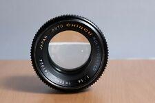 Auto Chinon Multi Coated 55mm F1.4 M42 mount lens