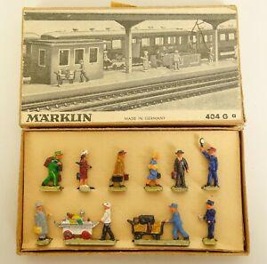 MARKLIN #404Ga HO SCALE DIE-CAST RAILROAD WORKMEN FIGURES-NEAR MINT IN OB!
