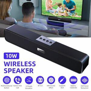 Funk Lautsprecher Stereo Bluetooth 5.0 wireless Boxen TV PC Soundbar Subwoofer