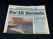 TIMES NEWSPAPER October 1989 World Series Bay Area Earthquake For 15 Seconds