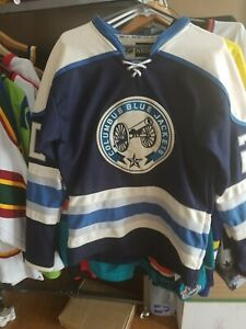 EUC Columbus Blue Jackets Alternate Blue Jersey SZ 48 w cannon logo Great Jersey