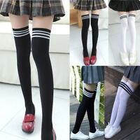 Girl Women Clothing Non-Slip Anti-Hem Fashion Thigh High Over Knee High Socks US