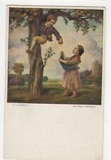 Zumbusch Die Kleinen Apfeldiebe Perlen Muenchener Kunst Vintage Postcard 302a