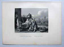 Musik, Hausmusik bei den Teniers. Stahlstich von W. French 1847