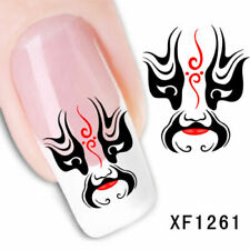 Nail Art Water Transfer Sticker Decal Stickers Pretty Black Red Masks Xf1261