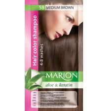 Marion Hair color shampoo sachet (lasting 4-8 washes) Aloe & Keratin 58
