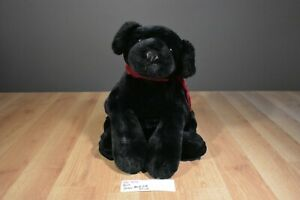 Russ Ginger the Black Lab With Red Bow Beanbag Plush(310-473)