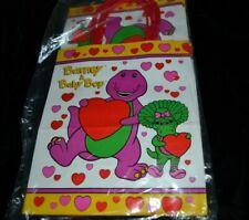 1993 Vtg Hallmark Barney Valentine Birthday Gift Bags Lot of 6 Party Bags Sealed