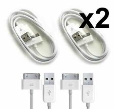 2PCS Apple iPhone 4S 4 3GS iPad 1 2 3 USB Fast Charging Sync Data Cable