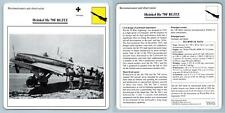 Heinkel He 70F Blitz - Recon. & Obs - Warplanes Collectors Club Card