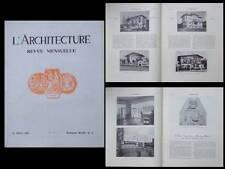 L'ARCHITECTURE 1931 EGLISE ROUVROY, PAYS BASQUE, ST JEAN DE LUZ, SCHEVENINGUE