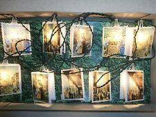 Vintage 10 Light String Italy Novelty Lights Christmas Italian Scenes Orig. Box