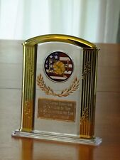 """Volleyball/US Flag (or any SPORT) 7"""" Acrylic Award Trophy FREE custom engraving"""