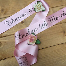 PERSONALISED SATIN WEDDING CAR RIBBON 6M - High Quality - Various Colours