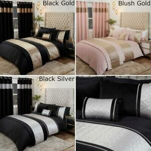 Capri Bed Set Duvet Cover Sets Bedding Eyelet Curtains/Cushion/Bed Runner Velvet