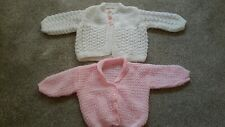 Babies Hand Knitted 6- 9 months Cardigans x 2- Unused