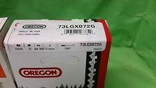 "1 73LGX072G Oregon chisel chainsaw chain 20"" 3/8 .058 72 DL / 208RNDD009 bar"