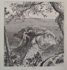 Monte Carlo Monaco Antique Engraving 1878