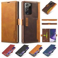 Pour Samsung Galaxy S20 Note20 Ultra S20+ Étui portefeuille en cuir Luxe coque