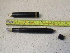 Very Rare Vintage AKKERMAN Ring Top Button Fill Fountain Pen 14CT Two-Tone Nib.